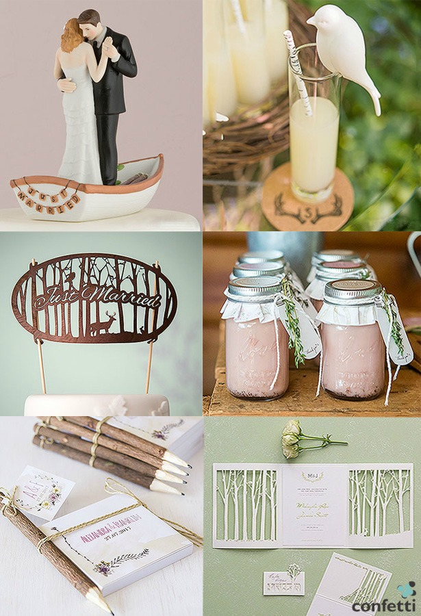 Rustic wedding accessories by Confetti.co.uk