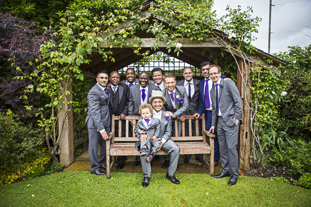 The groom with his groomsmen and page boy| Precious and Jerald's real wedding | Confetti.co.uk