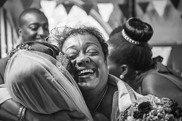 Mother of the bride embracing her daughter after the ceremony | Wedding moments to capture on the wedding day | Precious and Jerald's real wedding | Confetti.co.uk