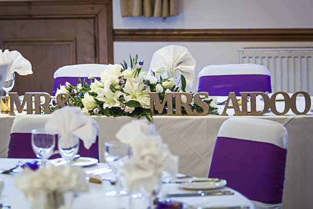 Personalised Mr and Mrs wooden letters  | Precious and Jerald's real wedding | Confetti.co.uk