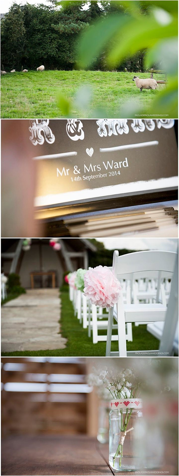 Out dor wedding ceremony | Lauren and David's real wedding | Confetti.co.uk