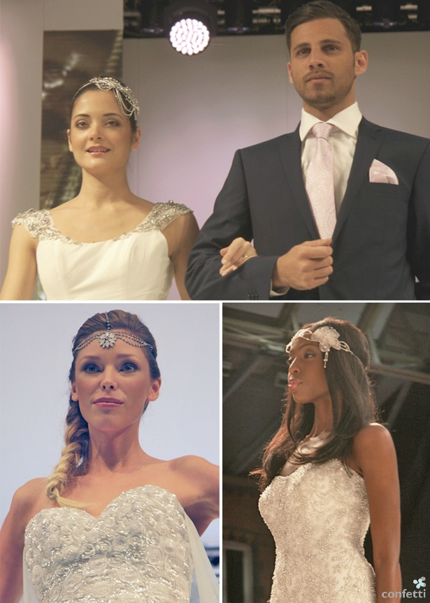 Bridal hair accessories on the National Wedding Show catwalk | Confetti.co.uk