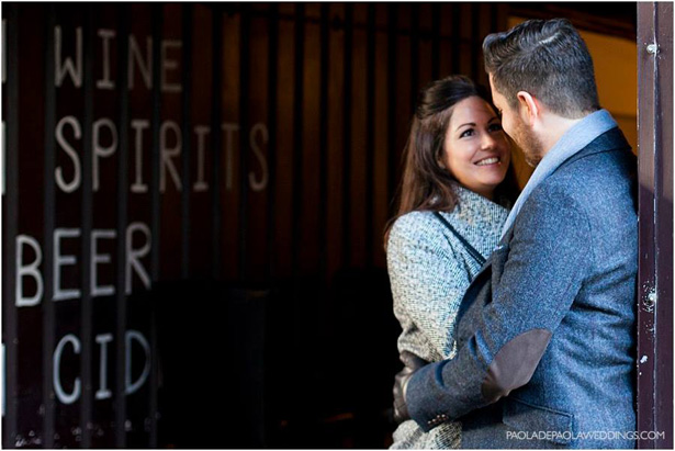 Kim and Dan's Real Engagement | Engagement shoot idea in London | # London #Urban #Engaged #Engagement #Idea | Confetti.co.uk