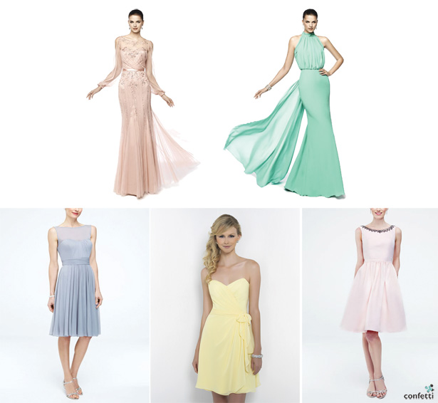 Pastel Bridesmaids Textures| Confettil.co.uk