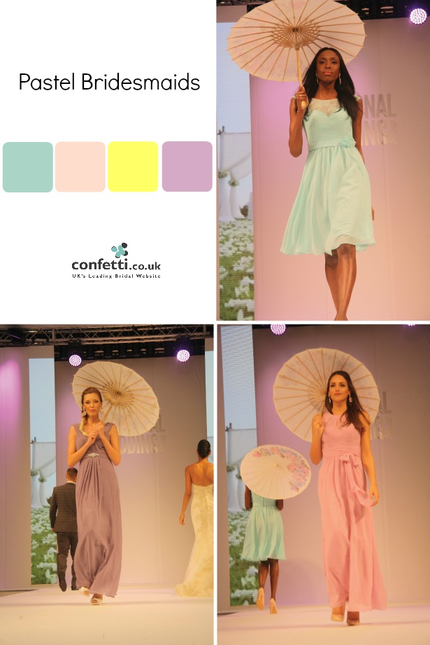 Pastel Bridesmaids Ideas | The National Wedding Show catwalk | Confetti.co.uk