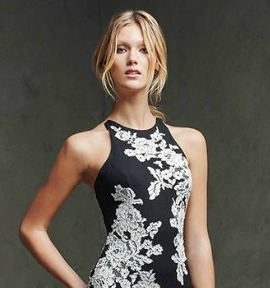 Pronovias black dress