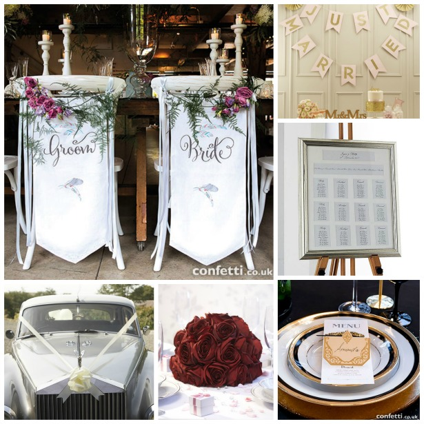 Wedding decorations for venue, table and car | Confetti.co.uk