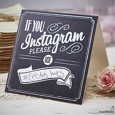 Invite your guests to Instagram your wedding  | Confetti.co.uk
