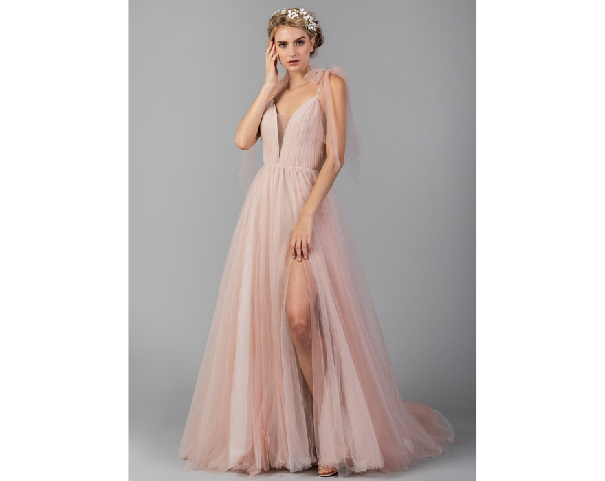 J'adore bridal gown in pink