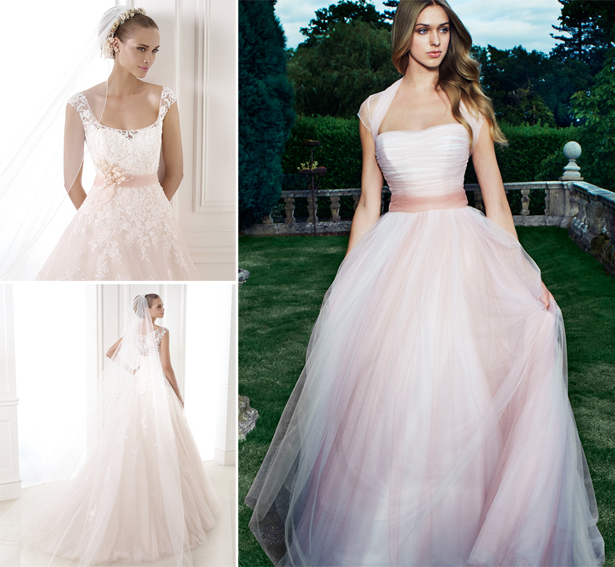 Light Pink Wedding Gown: Pink Wedding Dresses