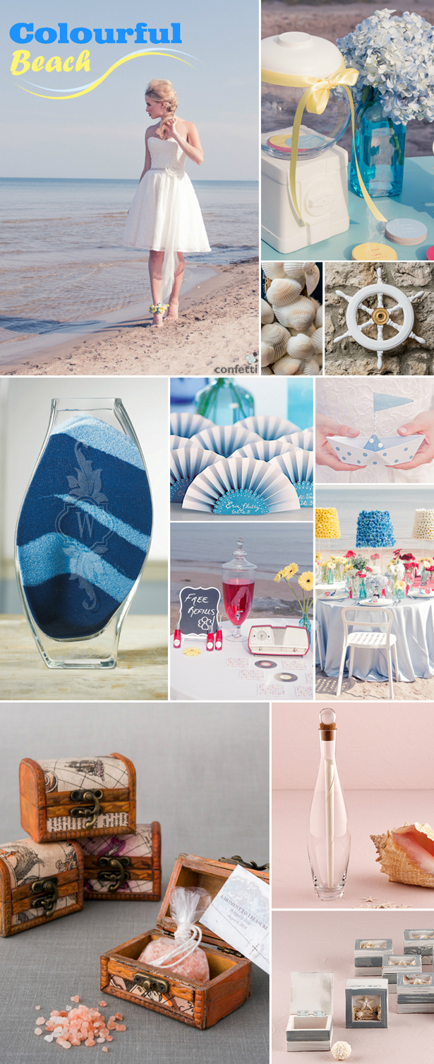 Colourful Beach Wedding | Confetti.co.uk