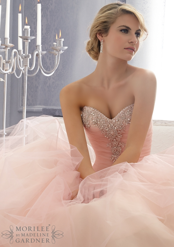 Pink Wedding Dresses by Mori Lee | Confetti.co.uk