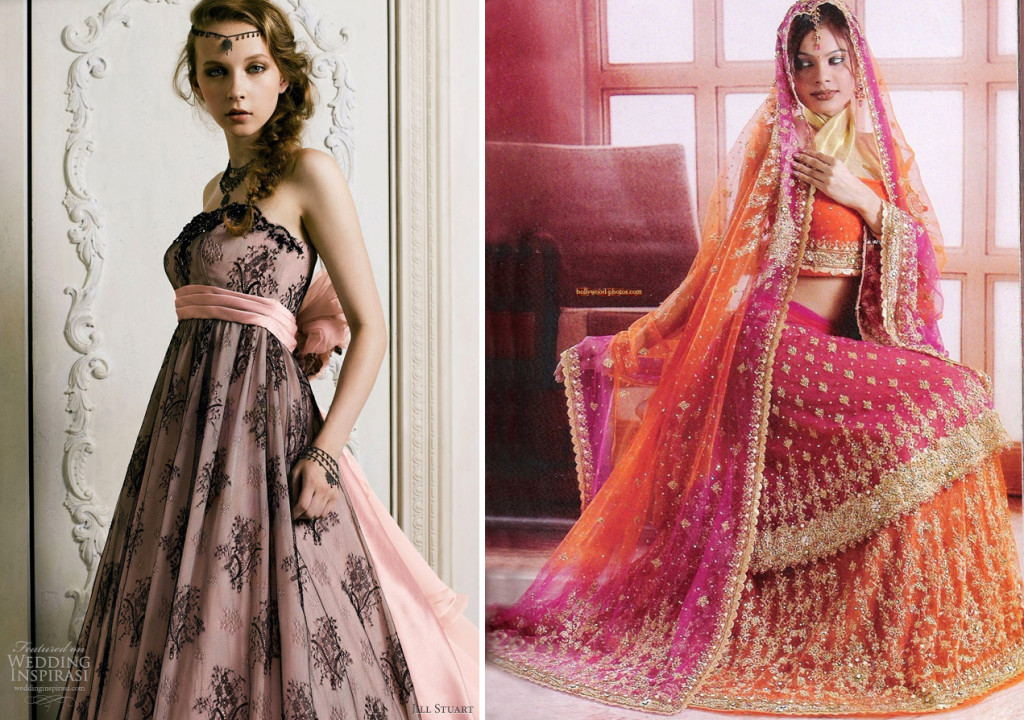 Pink wedding dresses for Pink and orange wedding dresses