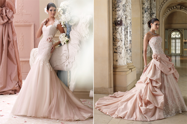 Pink Wedding Dresses by David Tutera | Confetti.co.uk
