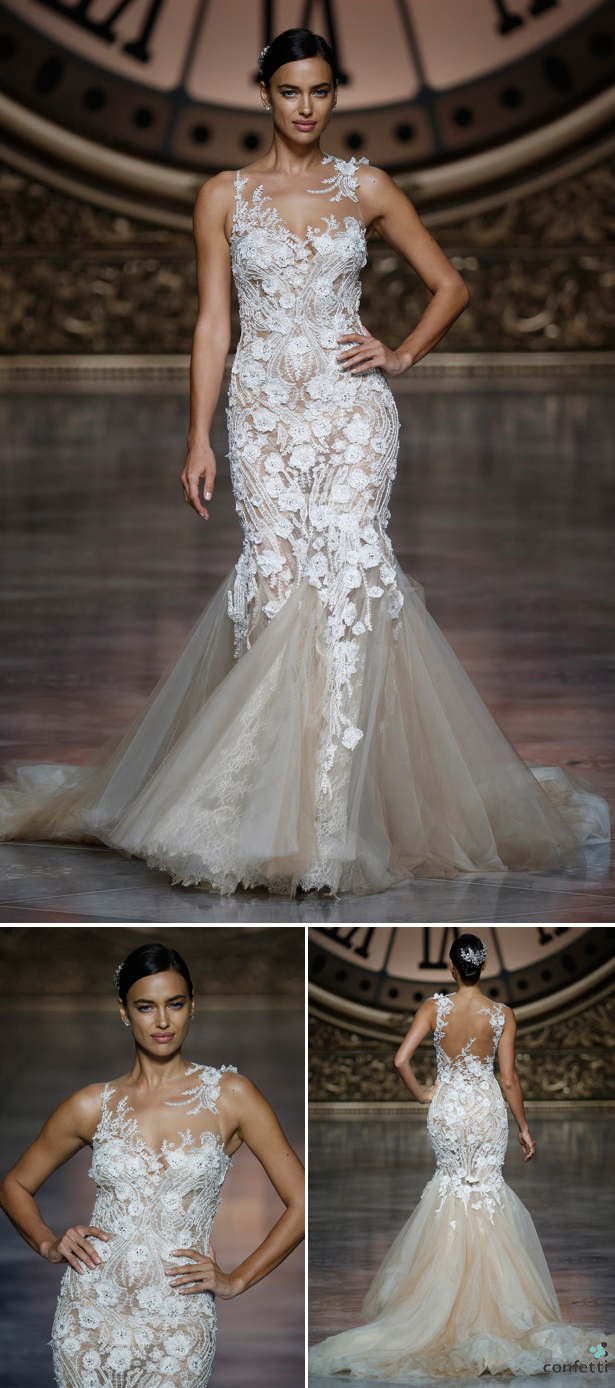 The 2016 Pronovias Catwalk | Stunning lace wedding dress from Pronovias | Confetti.co.uk