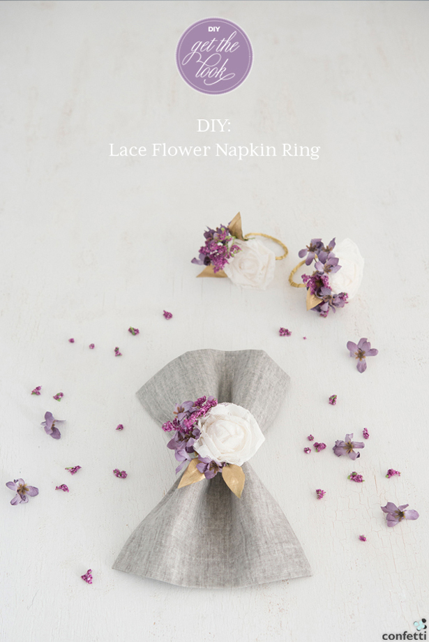 DIY Lace Flower Napkin Rings | Confetti.co.uk