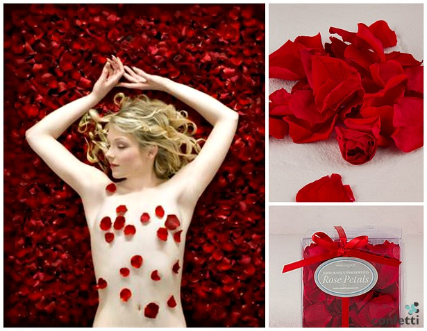 Red rose petals photo of bride by Fabulous Wedding Photography | Confetti.co.uk