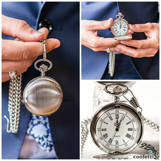 Engraved vintage style silver pocket watch | Confetti.co.uk