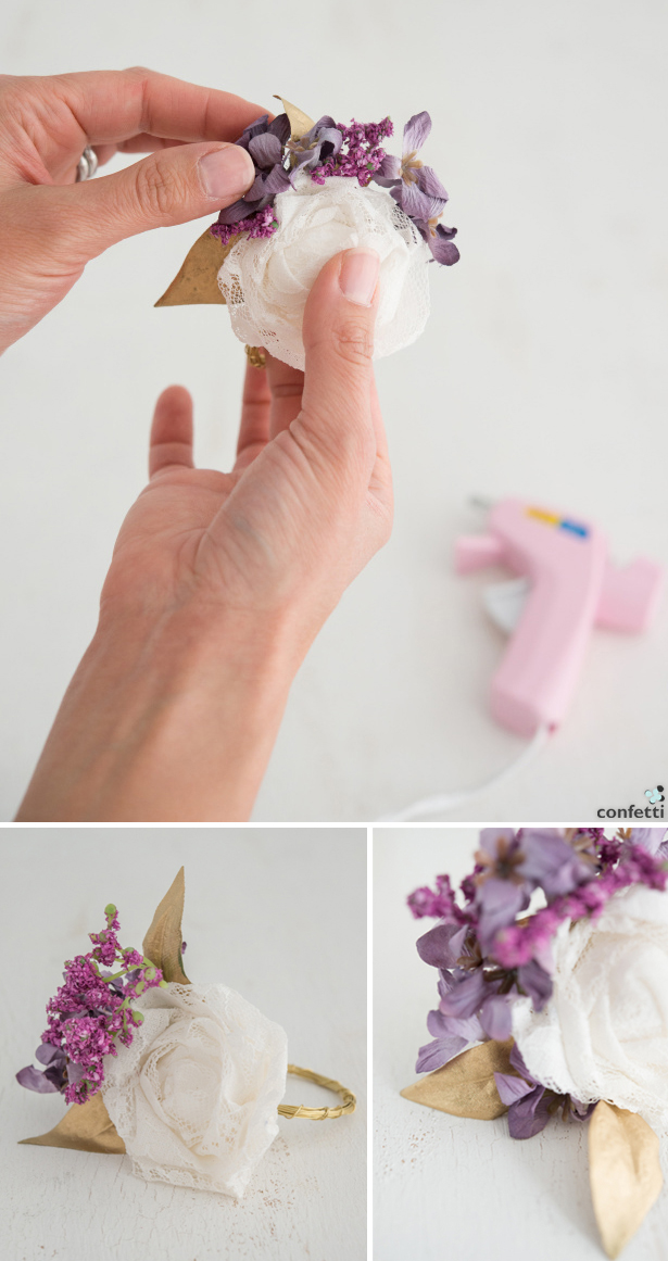 White and Purple Napkin Ring | Confetti.co.uk
