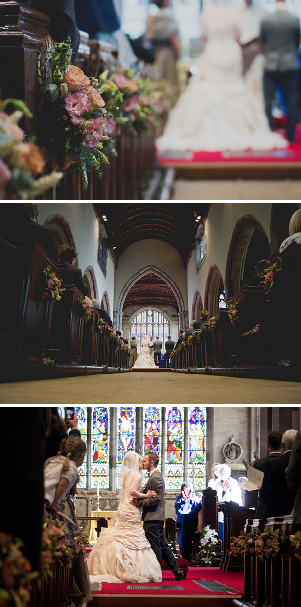 Cu=hurch wedding ceremony at St Peters and St Pauls church in Coleshill |Georgina and Edward's real wedding | Confetti.co.uk