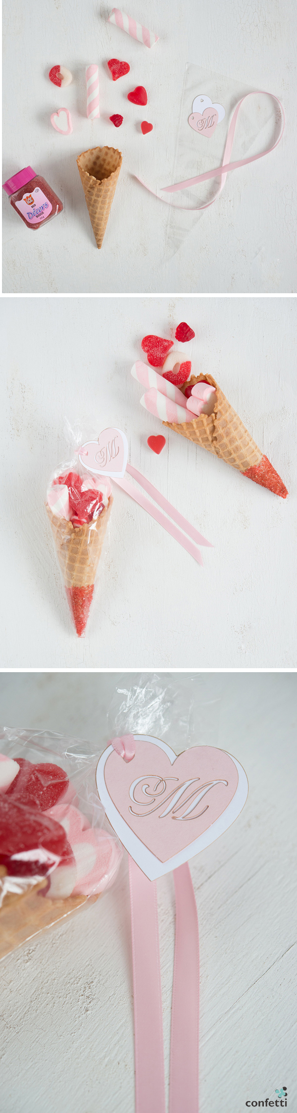 Sweet Cone Wedding favour Idea | DIY Wedding Favour Ideas | More weddig tips at Confetti.co.uk