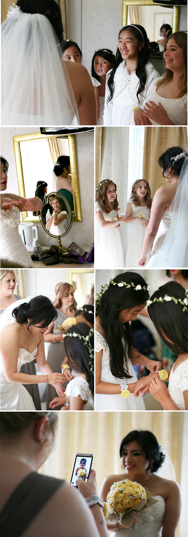 Flower girls seeing the bride for the first time | First look moments you have to capture | Sophie & Chris's real wedding | Confetti.co.uk