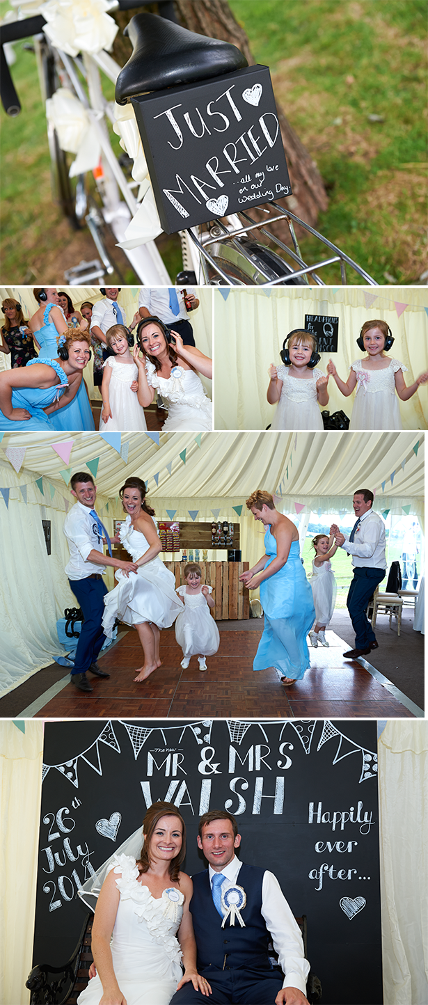 Garden marquee wedding reception | Silent disco wedding| Charlotte and Alan's Country Themed Wedding | More real wedding inspiration at Confeti.co.uk