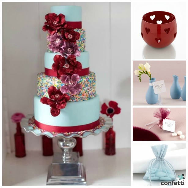 Red and blue theme   Confetti.co.uk