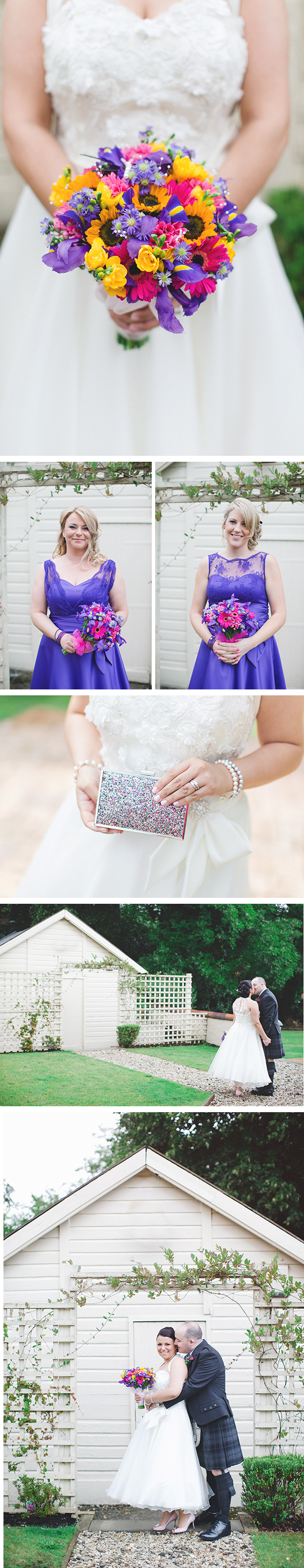 Multi-coloured wedding bouquet | Katie and Ian's real wedding | Confetti.co.uk