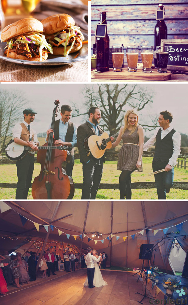 Festival Wedding Food and Entertainment | Confetti.co.uk