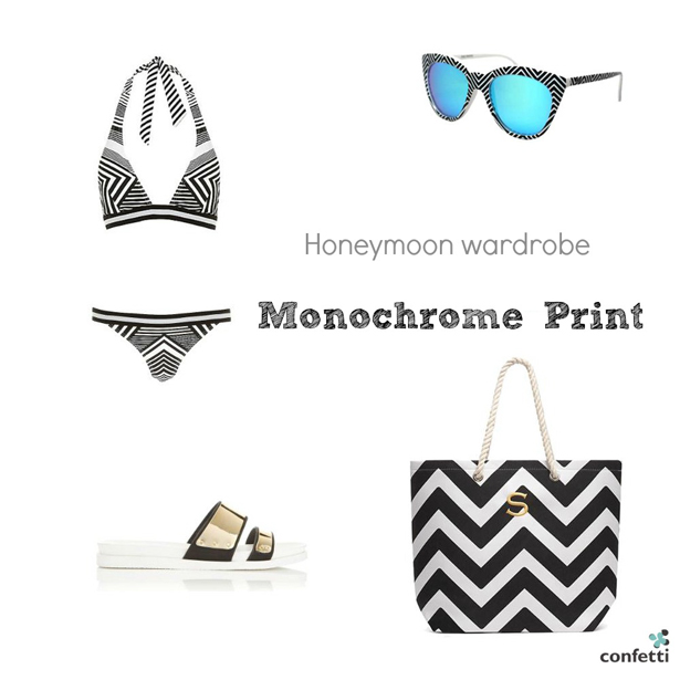 Must-haves for your Honeymoon Wardrobe | Monochrome  honeymoon wardrobe | More honeymoon inspiration from Confetti.co.uk