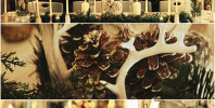 Christmas Forest Tablescape