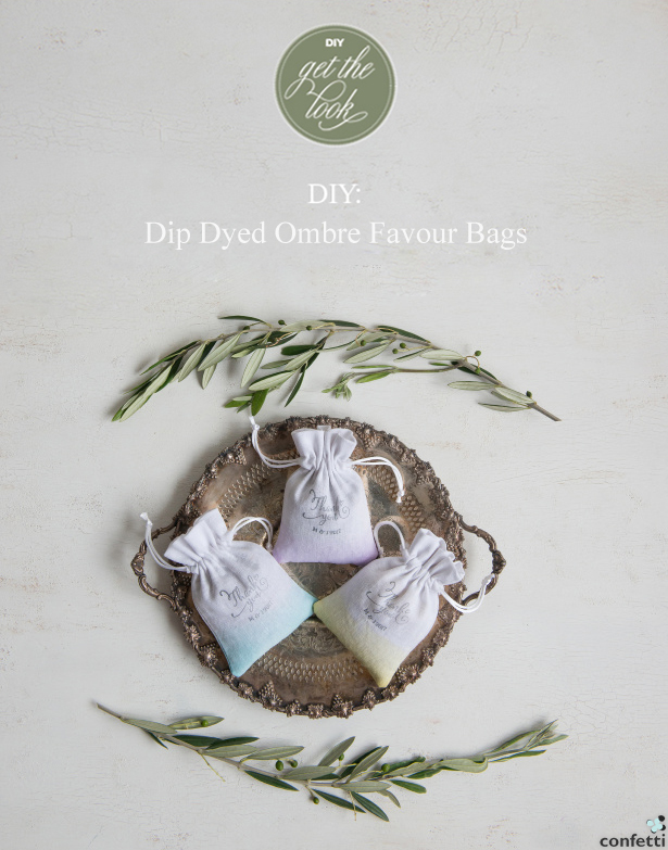 DIY Dip Dyed Ombre Favour Bags | Confetti.co.uk