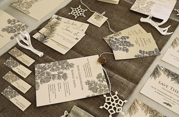 Wedding stationery for a winter themed wedding | Confetti.co.uk