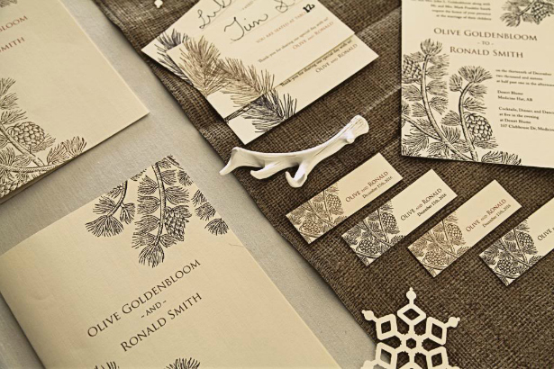 Forest Details and Motifs for a Winter Wedding | Confetti.co.uk