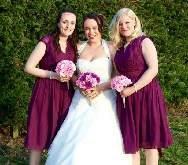 Bride and bridesmaids at Jess and Ryan's real wedding  | Confetti.co.uk