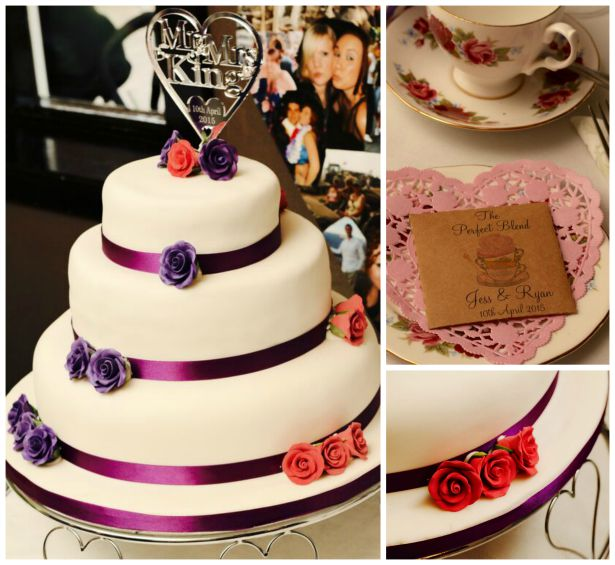 Cake and vintage tea cup at Jess and Ryan's real wedding | Confetti.co.uk