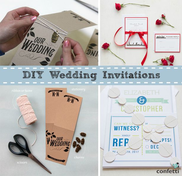 DIY wedding invitations| Confetti.co.uk