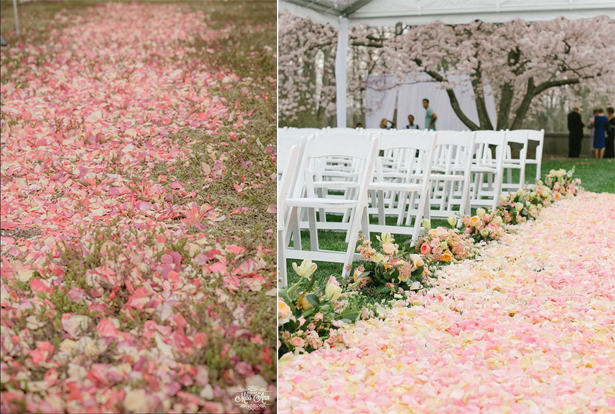 Flower Petal Aisle Runner | Confetti.co.uk