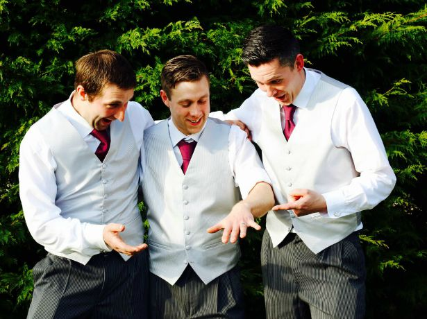 Groomsmen and the wedding ring at Jess and Ryan's real wedding | Confetti.co.uk