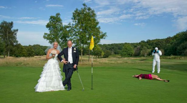 Golf course bride and groom photo courtesy of Fabulous Wedding Photography | Confetti.co.uk
