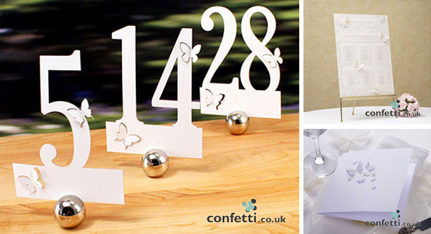 Butterfly Table Number Styles