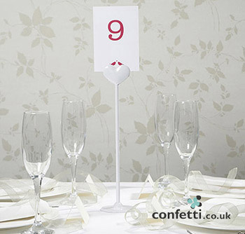 Heart stand table number