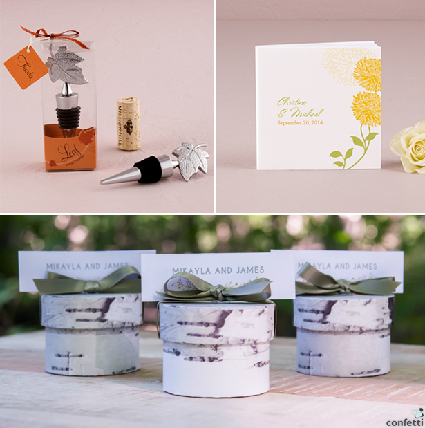 Autumn Wedding Favours | Confetti.co.uk