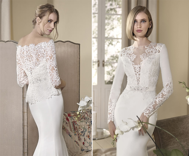 Chic And Simple Wedding Dresses By Cabotine: Long Sleeved Wedding Dresses For Autumn And Winter