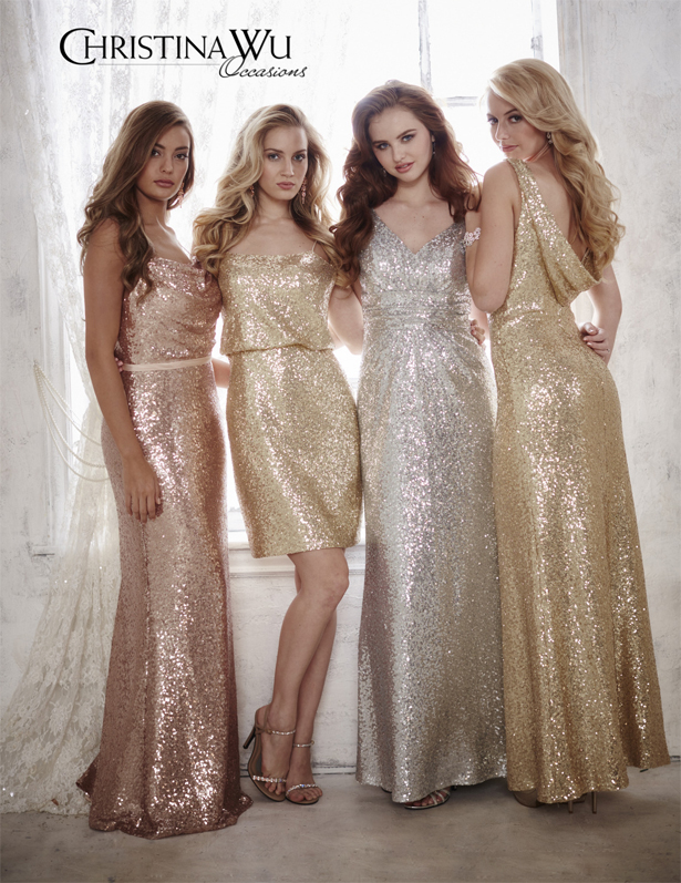 Glittering Bridesmaid Dresses by Christina Wu | Confetti.co.uk