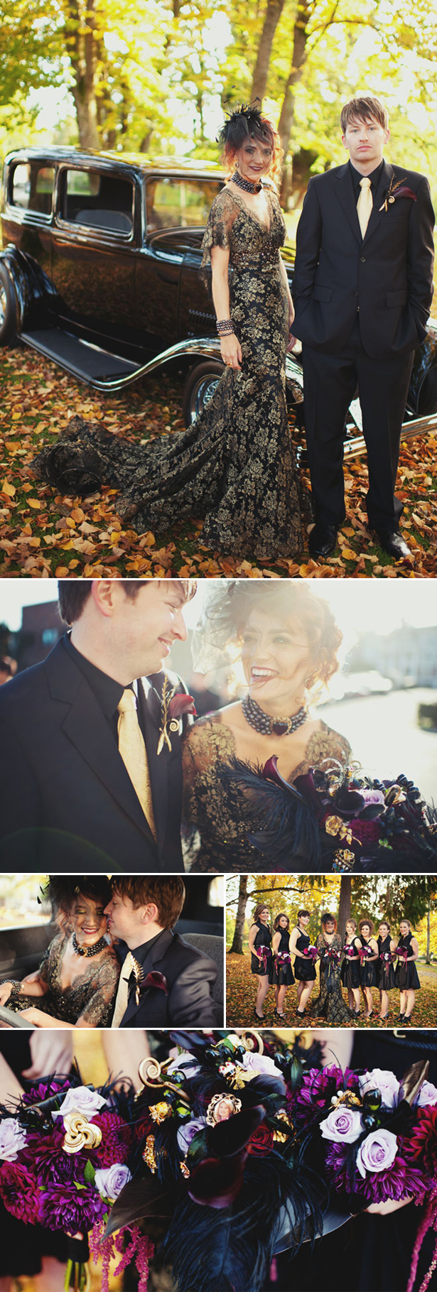 Dark Autumn Halloween Wedding | Confetti.co.uk