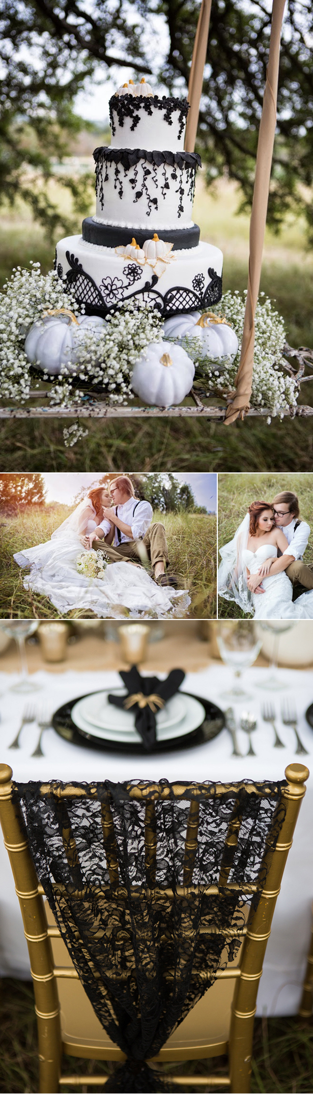 Glamorous Halloween Wedding | Confetti.co.uk