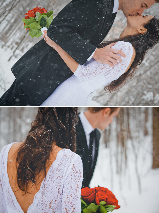 Snowy Winter Wedding | Confetti.co.uk