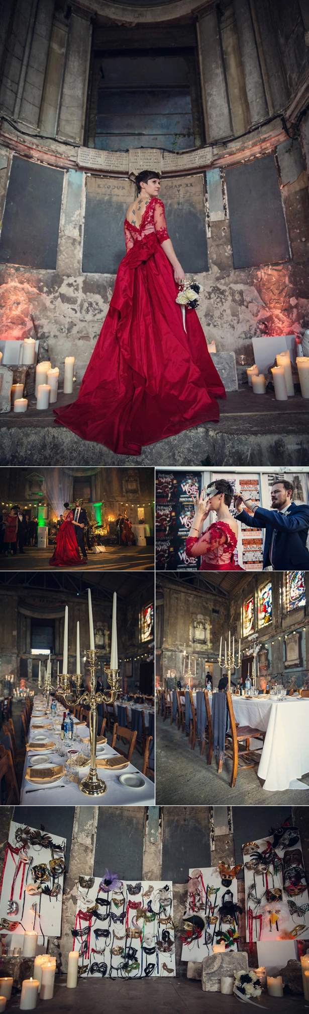 Masked Ball Wedding | Confetti.co.uk